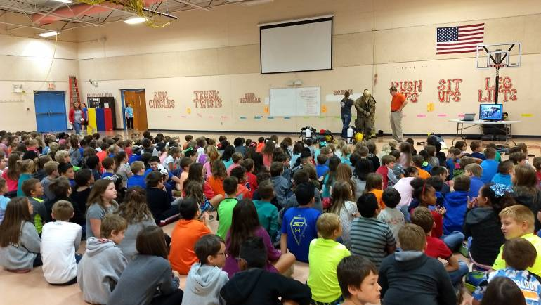 Fire Safety Week at Cascade Elementary